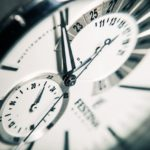 Close up of a face of a fancy wristwatch