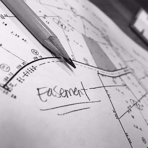 survey drawing of an easement